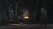 Ezio luchando Manuel
