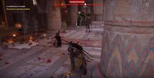 Bayek a punto de matar a Isidora