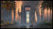 Entrance to Athor Temple por Raphael Lacoste