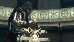 Ezio aún intenta jalar el Cetro