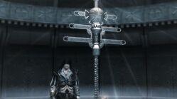 Ezio se acerca al cetro papal