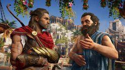 Alexios y Sócrates hablando
