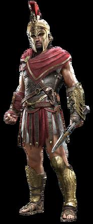 Alexios con casco