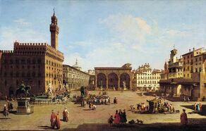 Giuseppe Zocchi - The Piazza della Signoria in Florence - WGA25992