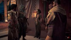 Reunión de Bayek, Aya, Cleopatra etc.