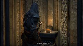 Ezio se rehúsa a tomar el Fruto