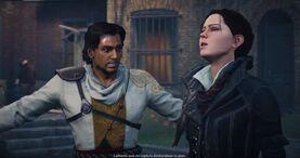 Evie y Henry discuten