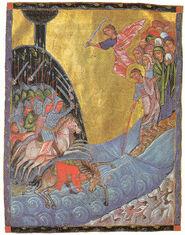 Moisés abriendo el Mar Rojo
