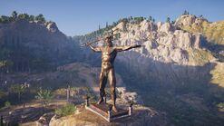 Estatua de Poseidón Pelene