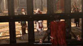 César tras la Puerta Flaminia
