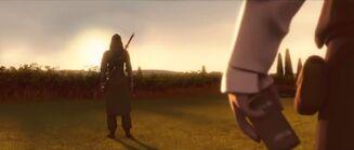 Ezio a punto de entregar la caja