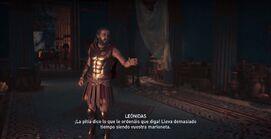 Leónidas discute con el Culto