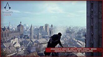 Assassin's Creed Unity, DEMO oficial MODO INDIVIDUAL comentada en Castellano