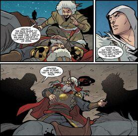 Qulan intenta llevarse la Espada del Edén