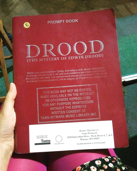 Actress Sarah Myers' Prompt Book of The Mystery of Edwin Drood