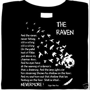 Last Stanza of Poe's The Raven on T-shirt.