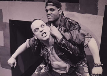 Trap Door Theatre of Chicago Actors DANNY BELROSE and DERRICK NELSON in POLAROID STORIES.