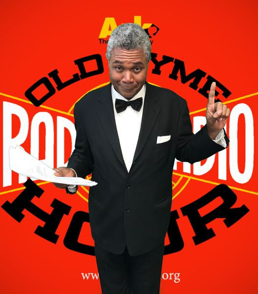 527px-Darryl Maximilian Robinson as The Announcer in The 2020 Ark Theatre of North Hollywood Old Time Radio Hour production of The Dick Tracy Radio Show -8.