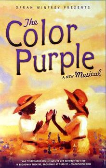 Color purple poster