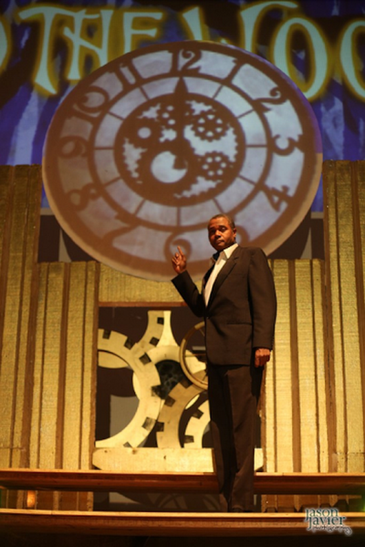 Darryl Maximilian Robinson as The Narrator and The Mysterious Man in The Burbank Community Theatre Into The woods