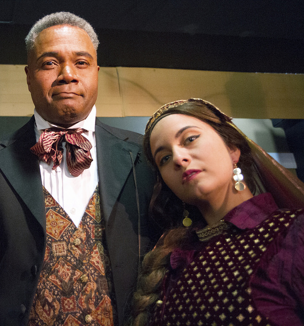 Darryl Maximilian Robinson as The Chairman Mr. William Cartwright & Anna Gallucci as Helena Landless in The Mystery of Edwin Drood.