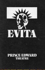 Evita 1978 Prince Edward Theatre