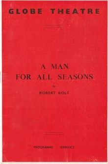 A Man For All Seasons Prog 1960