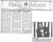 May 2001 Chicago Defender Feature Story on A Bit of the Bard