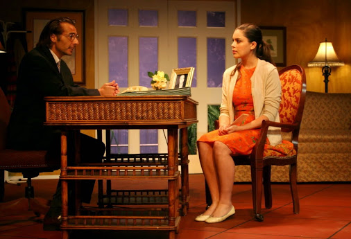 Gustavo Ranieri as Luis and Anna-Kate Chappell as Flora in The 2011 Bilingual Actors Repertory Theatre Company Production of Dreams Factory