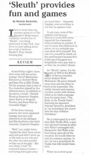 Oct. 25, 2000 Pioneer Press Theatre Review by Michael Bonesteel.
