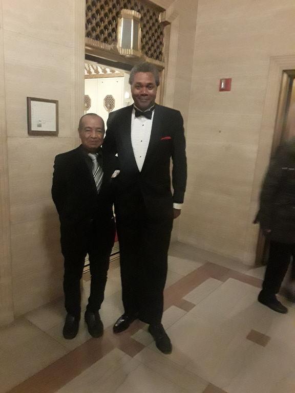 Actors Darryl Maximilian Robinson and Kim Crawford of ESC's Godot.