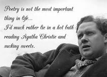 Photo of and Quote by Dylan Thomas