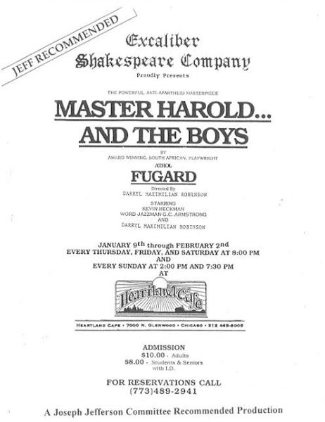 ESC Master Harold Poster.
