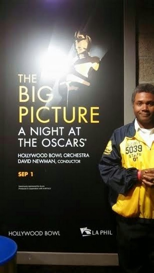 Darryl Maximilian Robinson has served numerous times as A Security Officer at The Historic Hollywood Bowl.
