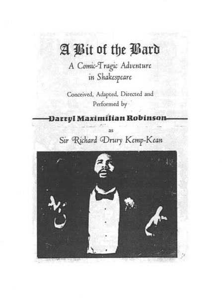 1987 Original A Bit of the Bard Program Cover / Showcard