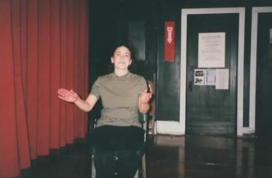 Talented Actress-Dancer Jenn Williams' rehearses her portion of Edgar Allan Poe's The Bells in The 1999 Excaliber Shakespeare Company of Chicago staging of The Raven and Six Other Points of Interest.