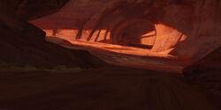 Sandstone cave entrance