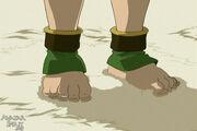 Toph's feet stuck