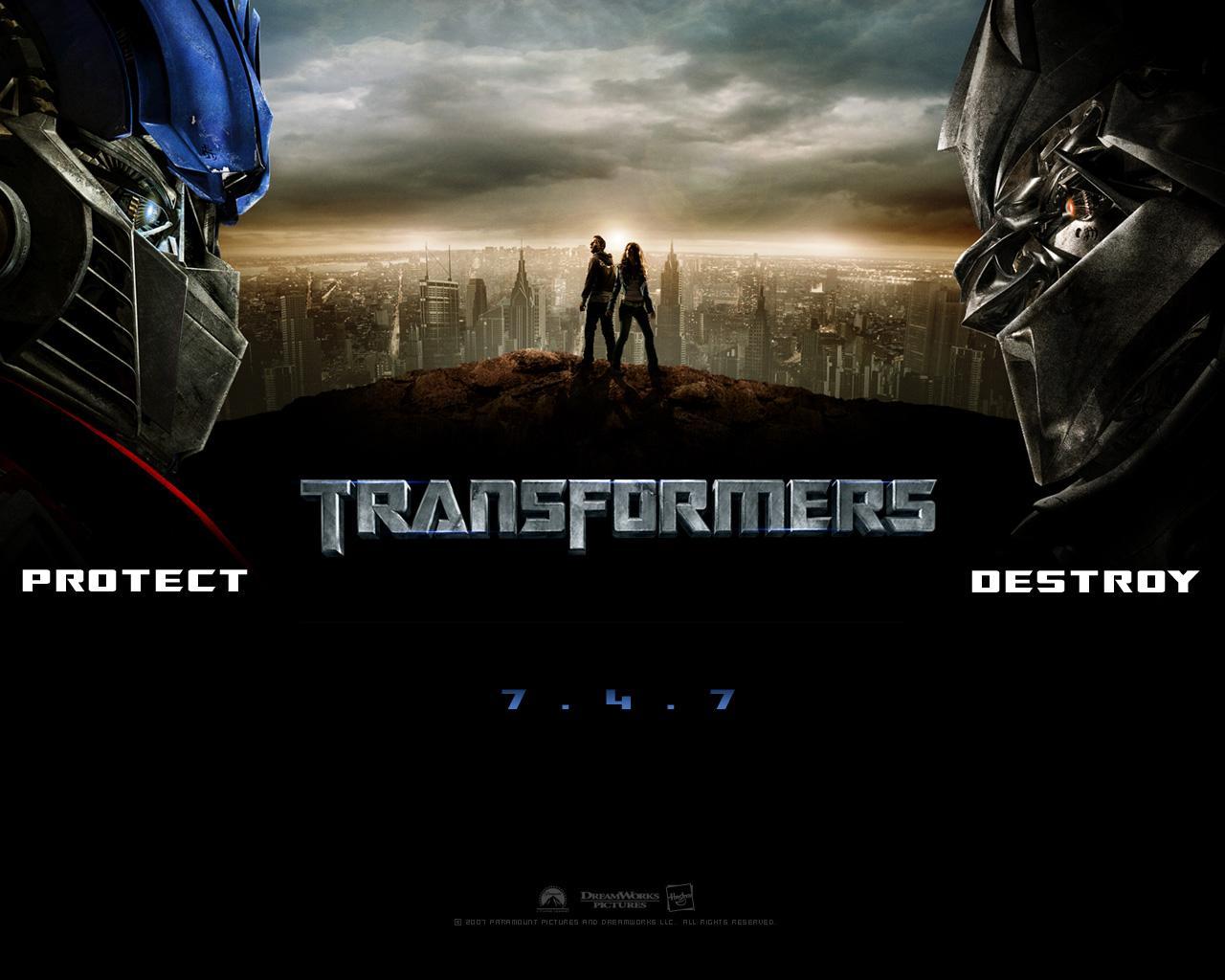 Transformers The Movie Poster Desktop Background W1