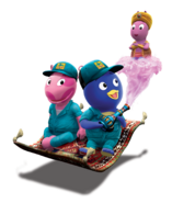 The Backyardigans Mover Uniqua, Mover Pablo and Genie Austin