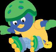 The Backyardigans Sport-Tacular Pablo on Rollerblades