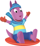 The Backyardigans Austin Sledding Nickelodeon Nick Jr. Character Image