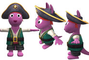 The Backyardigans Pirate Captain Austin Model Sheet