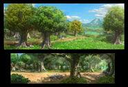 The Backyardigans Buttercup Mountain Forest Concept Art