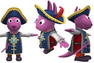 The Backyardigans Palace Guard Austin Model Sheet