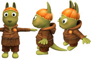 The Backyardigans Austin as the Grabbing Goblin Model Sheet