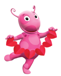 Uncategorized Pink Backyardigan uniquaimages the backyardigans wiki fandom powered by wikia uniqua valentines day nickelodeon nick jr character image