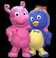 The Backyardigans Uniqua and Pablo Nickelodeon Nick Jr. Characters