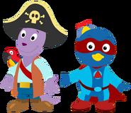 The Backyardigans - Pirate Austin and Superhero Pablo