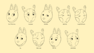 The Backyardigans Uniqua and Austin 2D Facial Expressions